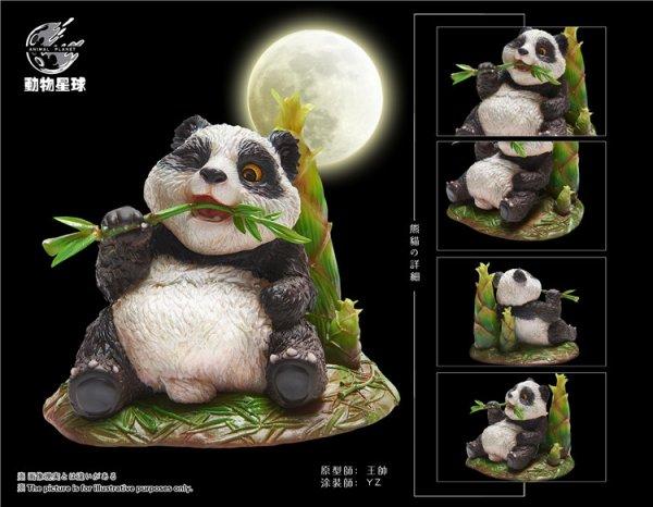 画像1: 動物惑星 ジャングルシリーズ パンダ スタチューフィギュア  塗装済み 完成品  (1)